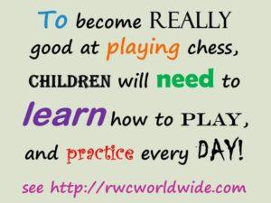 Practicing junior chess