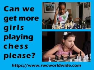 Girls can play junior chess too